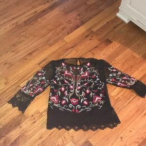 River island crop blouse